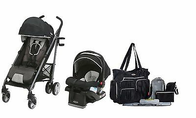 Graco New Baby Stroller Infant Car Seat Diaper Bag SnugRide Click Connect 35