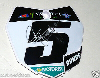 RYAN DUNGEY #5   Replica signed number plate ,Chad reed