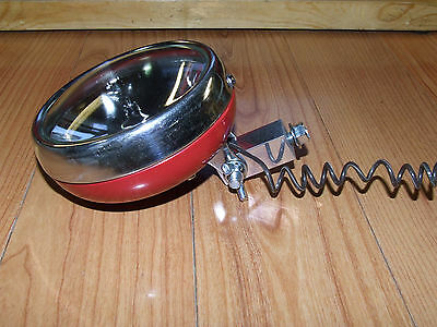 "Vintage  Minibike, 5"" OD. 6VOLT RED PAINTED   VINTAGE MINIBIKE HEAD  LIGHT"