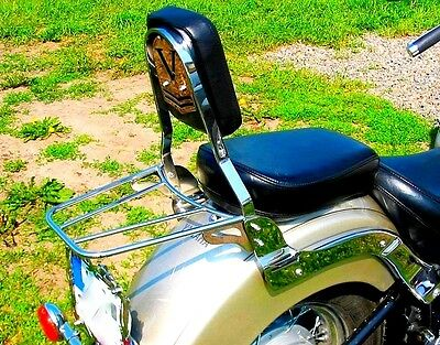 Sissy Bar Passenger Backrest + Luggage Rack Yamaha Xvs 650 Dragstar (V-Star)