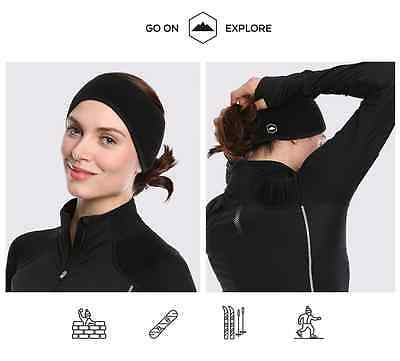 Fleece Ear Warmer Muff Headband Pony Tail Bands Women Running Hiking Walk Sports