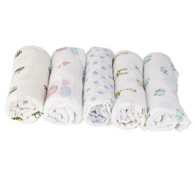 Large Baby Muslin Wraps 100cm Squares Swaddling Burp Cloths Cotton Blanket Towel