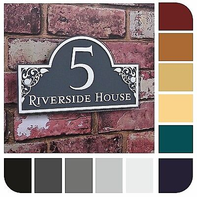 House Sign Name Number Plaque Street Address  Plate Personalised Made To Order
