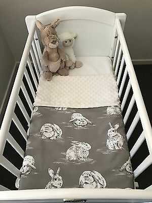 Newborn Infant Baby Bassinet Pram Swaddle Bunny Blanket