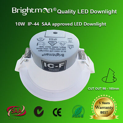 30 x 10W DIMMABLE LED DOWNLIGHT KIT WARM / NATURE WHITE 90MM IC-F IP44 SAA