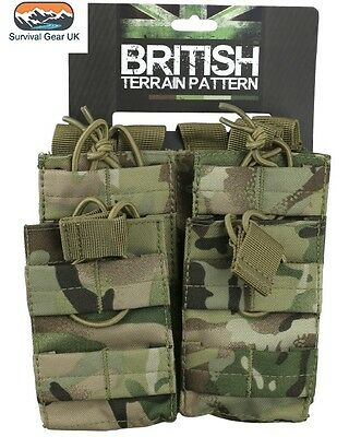Tactical Double Duo Mag Pouch BTP UTP MOLLE Ammo Airsoft Quick Release Military
