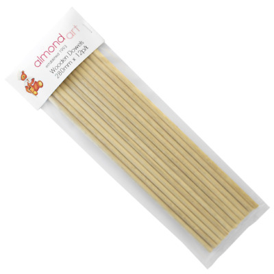 "Wooden Cake Support Dowels Rods - 280mm (11"") - 12pk"