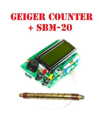Geiger counter dosimeter kit assembled /w SBM 20 tube Arduino IDE compatible
