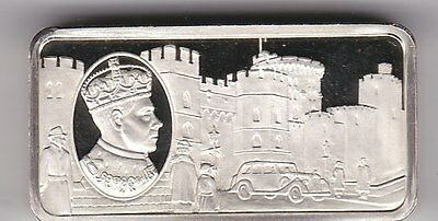 Hallmarked 2 Ounce Silver Ingot Featuring Edward Viii In Near Mint Condition