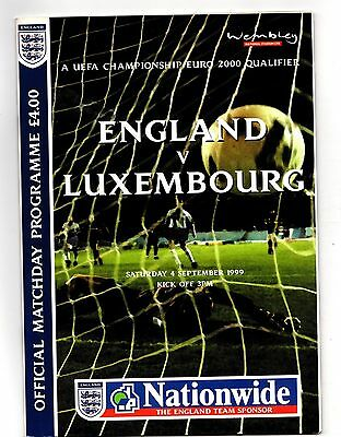1999 England v Luxembourg   POST FREE