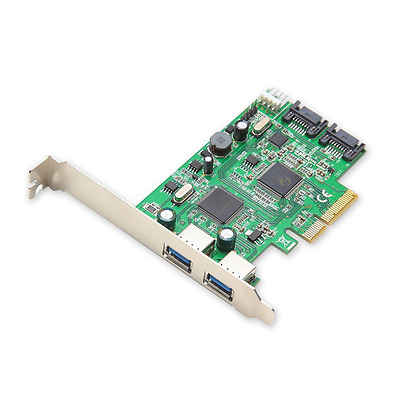 Syba USB 3.0 SATA III PCI-Express 2.0 Controller Card with Standard/Low Profile