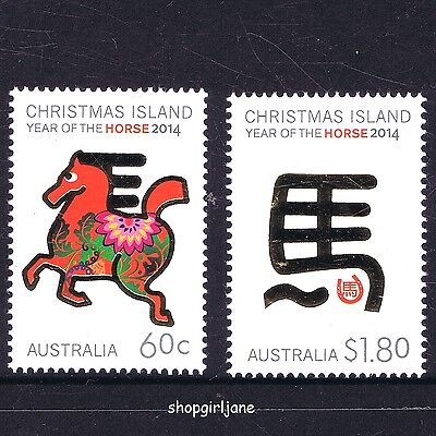 2014 - Australia - Christmas Island Year of the Horse - set of 2 - MNH