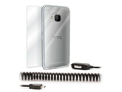 Griffin HTC One M9 Starter Kit Case & Screen Protector & 2.1 Amp Car Charger