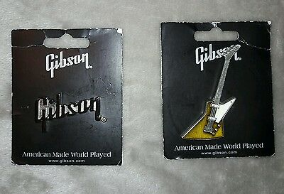 Gibson guitars pins (lot of 2 pins)