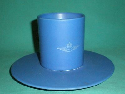 Vintage/retro, 1970s blue cup with saucer/pottery/British
