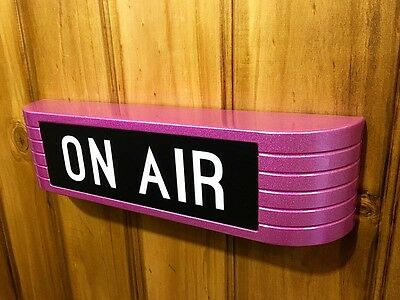 ONAIR Sign Light up Reproduction RCA 1930 style Studio Sign Metallic Pink ON AIR