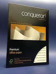 Conqueror A4 High White Laid paper 1 ream 500 sheets 100gsm