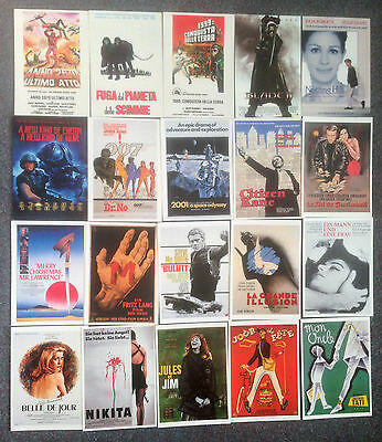 Lot Of 20 Film Poster Postcards For Classic Films