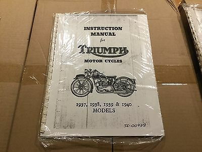 Triumph Instruction Manual 1937, 1938, 1939 & 1940 Models 438 [3-65]