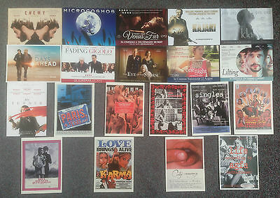 Lot Of 20 Film Poster Postcards