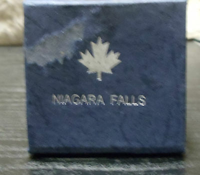 Niagara Falls, Canada 3D Laser Etched Glass Crystal Cube Paperweight  in Box
