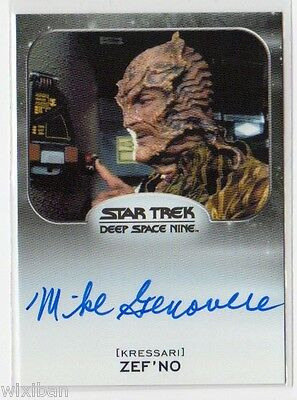 Star Trek 50th Aliens Autograph VLimited DS9 MIKE GENOVESE Zef'No