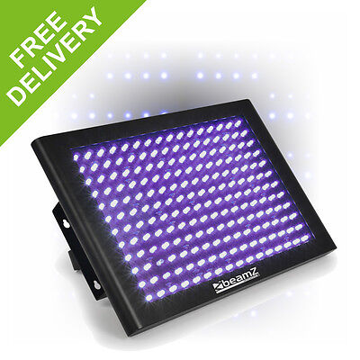 Beamz UV LED Panel Wash Light Ultraviolet DMX DJ Lighting Shadow Rave Party