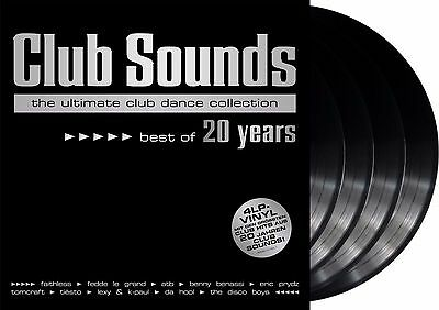 """Various Artists """"club sounds - best of 20 years"""" limited Vinyl 4LP NEU 2017"""