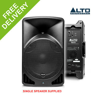 """Alto TX15 15"""" Inch Active Powered Loud Speaker Class D PA System 600W DJ Stage"""