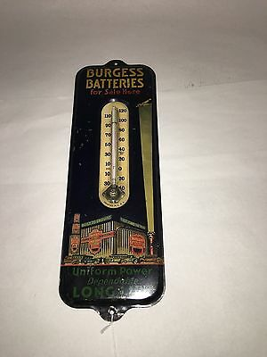 Burgess Batteries Thermometer.    212-Y