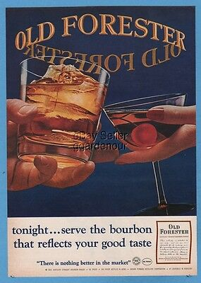 1965 Old Forester Bourbon Whisky Brown Forman Louisville KY HIGHBALL Cocktail ad