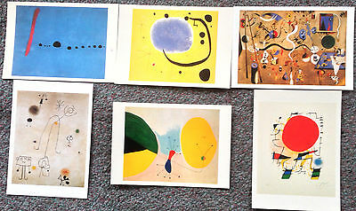 Lot Of 6 Postcards Of Surrealist Paintings By Joan Miro