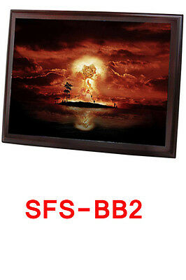 Wooden brown back board Photo Frame Sublimation Heat Transfer 8x6 inches 15x20cm