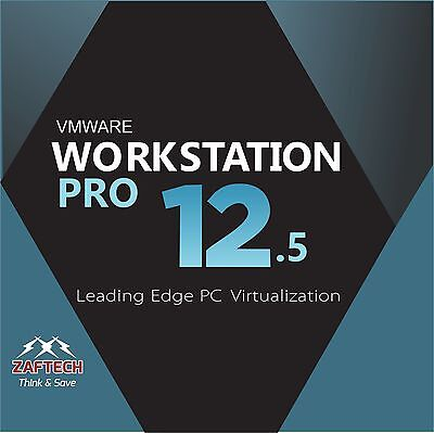 Vmware Workstation 12.5 Pro lifetime 1 PC - latest version 2016 download edition