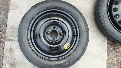 "Geniuine Ford Fiesta Mk7 Mk8 2008-2018 Space Saver 15"" Spare Wheel And Tyre F&f"