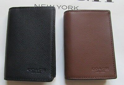Coach 57640B Bifold leather Credit Card Box Case