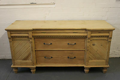 Antique Pine Continental Sideboard