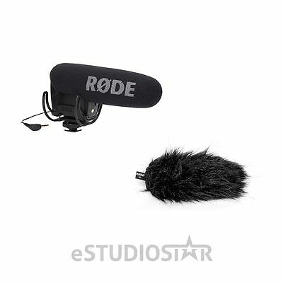 Rode VideoMic Pro R Shotgun Mic, 200 Ohms w/Rode Deadcat VMPR Wind Cover NEW