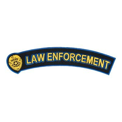Police Badge Law Enforcement Rocker Patch, Police Patches