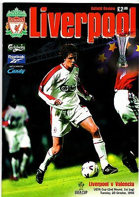 1998-1999 Liverpool v Valencia UEFA Cup POST FREE