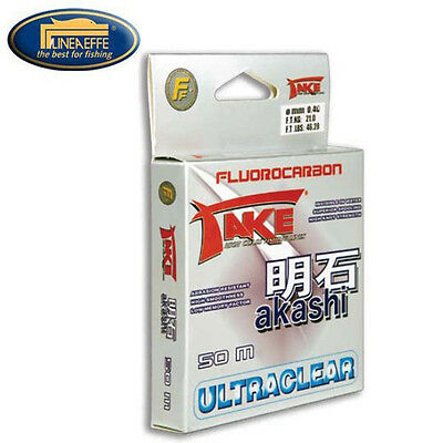 NYLON DE PECHE TAKE AKASHI ULTRACLEAR FLUOROCARBON 50 M Modèle: 0.22mm