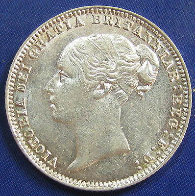 1879 4+C 6d Victoria Rare no die number silver Sixpence, Davies 1094