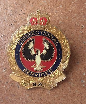OBSOLETE SOUTH AUSTRALIA CORRECTIONAL SERVICES  BADGE by PARKES BRISBANE POLICE