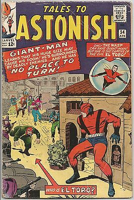 Tales To Astonish #54. Marvel Apr 1964. Ant-Man/Giant-Man. Wasp. GD+