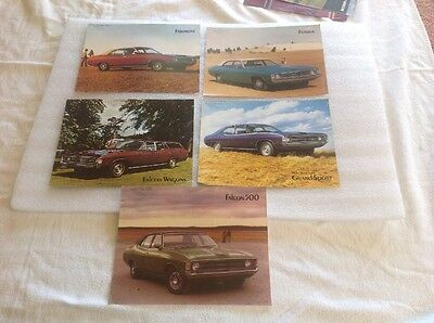 X5 FORD FALCON XA Sales BROCHURES ORIGINAL AUSTRALIAN
