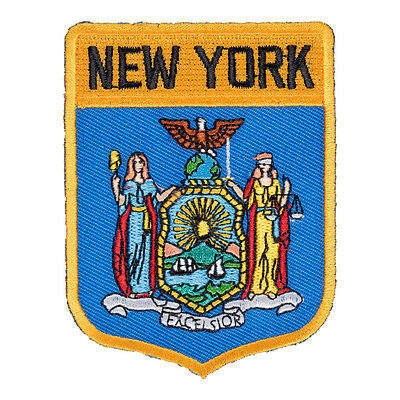 New York State Flag Shield Patch, United States of America Patches
