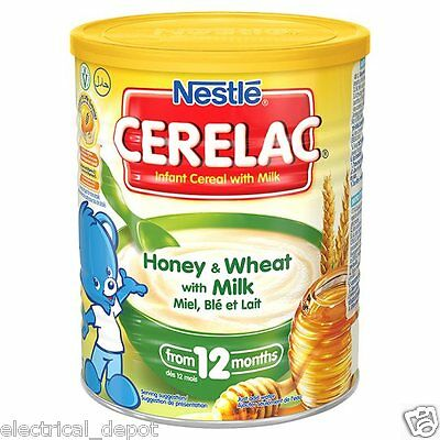 6 x Nestle Cerelac Honey and Wheat with Milk From 12 Months (400g) (Pack of 6 )