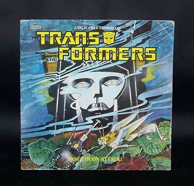 Vintage 1985 Transformers RARE Big Looker Story Book HASBRO Hard to Find