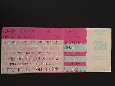 Live-The Band Ticket Stub-Theater Of The Living Arts-Philly 1994
