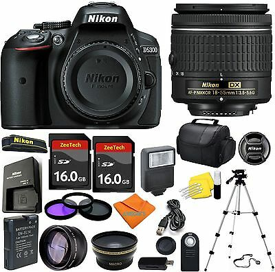 Nikon D5300 Digital SLR Camera + 3 Lens Kit 18-55mm + 32GB Amazing Value Bundle